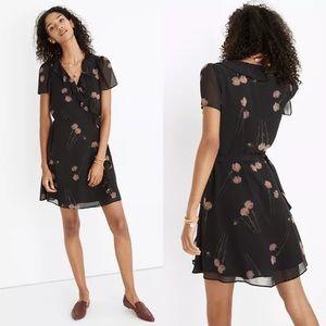Madewell | Georgette Ruffle-Wrap Mini Dress Small
